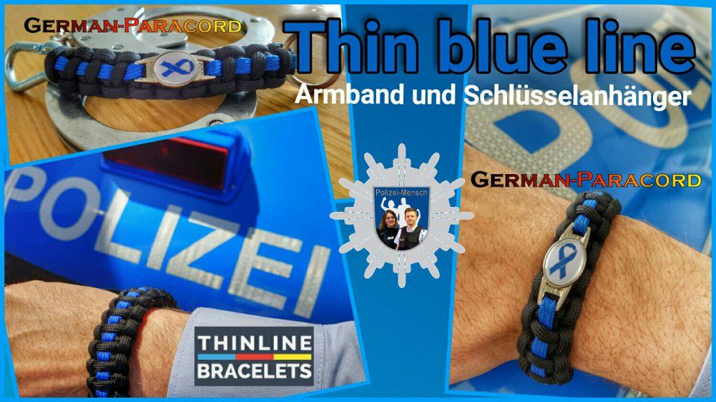 Thin Blue Line Armband & Schlüsselanhänger