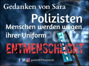 Polizisten - Menschen werden wegen ihrer Uniform entmenschlicht