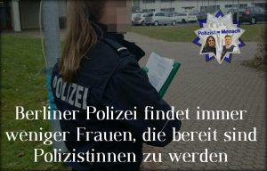 Berliner Polizei mit weniger Frauen