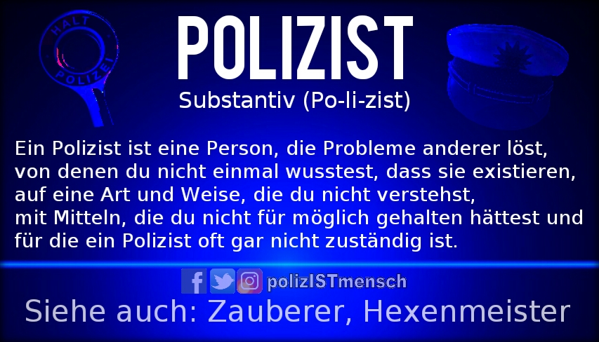 Was der Duden über uns Polizisten weiß