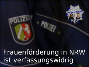 Frauenförderung in Nordrhein-Westfalen ist verfassungswidrig