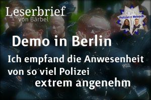 Leserbrief von Bärbel zur Demo gegen Rassismus in Berlin am 3. September