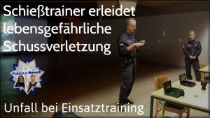 Unfall bei Einsatztraining: Schießtrainer erleidet lebensgefährliche Schussverletzung
