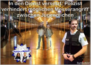In den Dienst versetzt: Polizist verhindert möglichen Messerangriff zwischen Jugendlichen