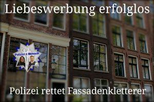 Liebeswerbung erfolglos: Polizei rettet Fassadenkletterer