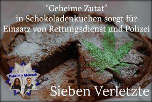 """""""Geheime Zutat"""" in Schokoladenkuchen sorgt für Einsatz von Rettungsdienst und Polizei"""