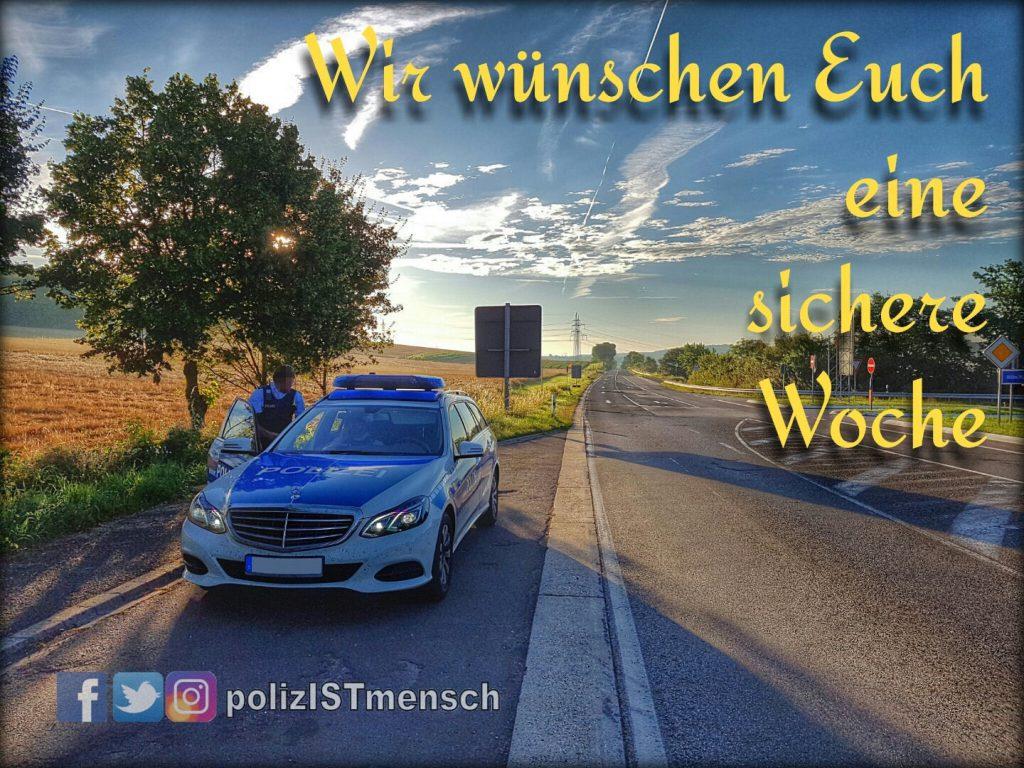Wir wünschen Euch eine sichere Woche!