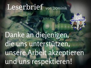 Leserbrief von Dominik