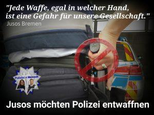 Jusos Bremen möchten Polizei entwaffnen