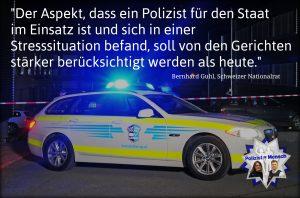 Schweizer Gerichte sollen Stresssituation der Polizisten im Einsatz stärker berücksichtigen