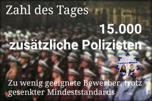 Zahl des Tages: 15.000 zusätzliche Polizisten