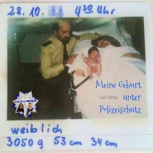 Meine Geburt unter Polizeischutz (von Nina)