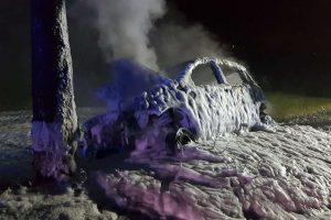 Polizist rettete privat Mann aus brennendem Auto