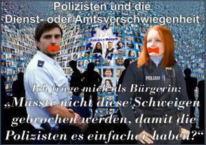 Polizisten und die Dienst- oder Amtsverschwiegenheit