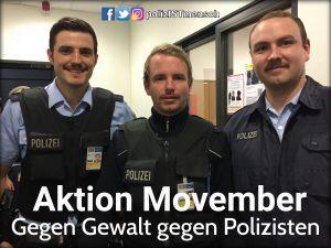 Aktion Movember: Gegen Gewalt gegen Polizisten