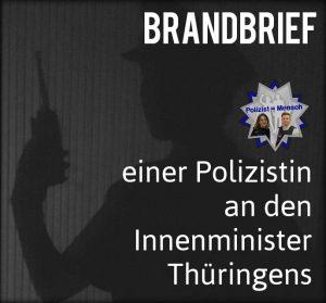 Brandbrief einer Polizistin an den Innenminister Thüringens