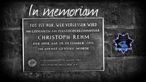 In memorian: Ein Jahr ohne POK Christoph Rehm