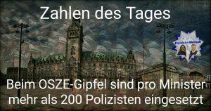 Zahlen des Tages vom OSZE-Gipfel in Hamburg