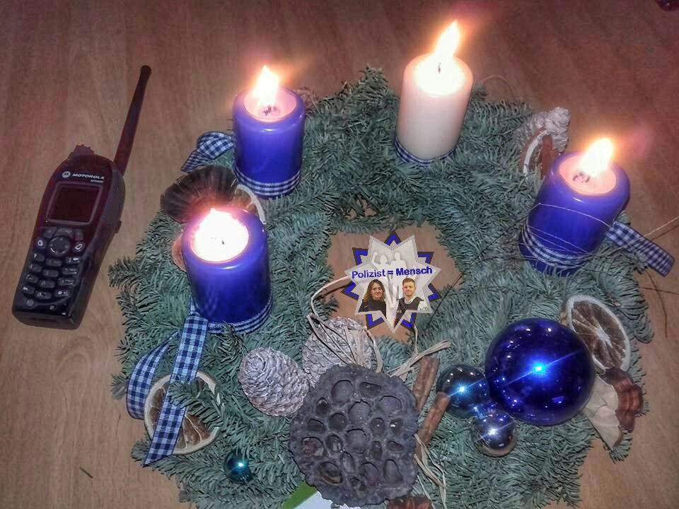 Bildgruß zum 4. Advent von der Polizei Langenlois