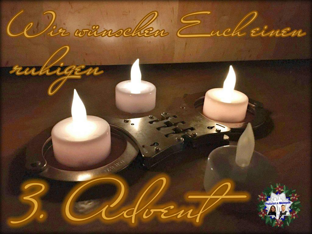 Wir wünschen Euch einen ruhigen 3. Advent