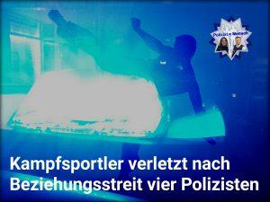 Nicht mehr dienstfähig: Kampfsportler verletzt nach Beziehungsstreit vier Polizisten