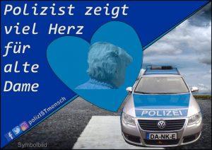 Polizist zeigt viel Herz für alte Dame