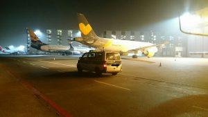 Grüße aus der Nacht am Flughafen HAJ