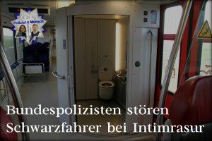 Bundespolizisten stören Schwarzfahrer bei Intimrasur