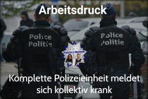 Arbeitsdruck: Komplette Polizeieinheit meldet sich kollektiv krank