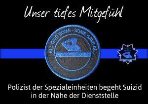 Unser tiefes Mitgefühl: Polizist der Spezialeinheiten begeht Suizid in der Nähe der Dienststelle