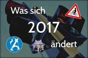Verkehrsrecht: Was sich 2017 ändert