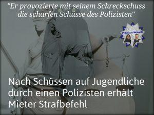 Nach Schüssen auf Jugendliche durch einen Polizisten in Bremen erhält Mieter Strafbefehl