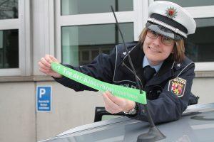 Kinderhospizarbeit: Polizei Koblenz fährt heute mit dem Grünen Band der Hoffnung