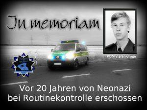 In memoriam: Vor 20 Jahren von Neonazi bei Routinekontrolle erschossen