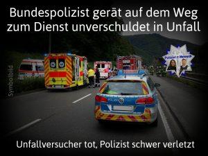Bundespolizist gerät auf dem Weg zum Dienst unverschuldet in Unfall