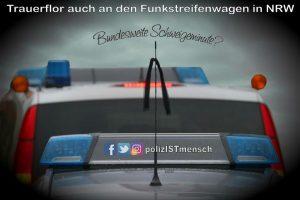 Trauerflor auch an den Funkstreifenwagen in NRW - Bundesweite Gedenkminute?
