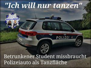 Betrunkener Student missbraucht Polizeiauto als Tanzfläche