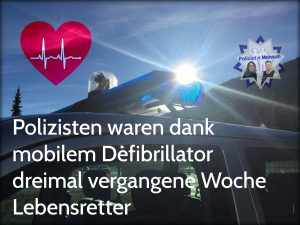 Polizisten waren dank mobilem Defibrillator dreimal vergangene Wochen Lebensretter