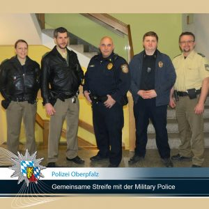 Polizei Amberg und Militärpolizei der US-Armee