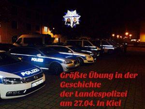 Größte Übung in der Geschichte der Landespolizei am 27. April in Kiel