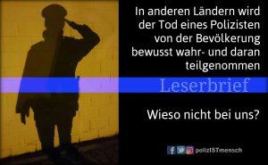 Leserbrief zum Thema: Öffentliches Gedenken an getötete Polizisten