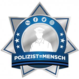 Logo Polizist=Mensch