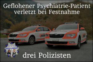 Geflohener Psychiatrie-Patient verletzt bei Festnahme drei Polizisten