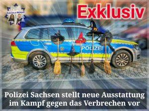 Polizei Sachsen stellt neue Ausstattung im Kampf gegen das Verbrechen vor