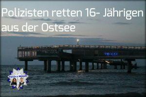 Polizisten retten 16 jährigen aus der Ostsee