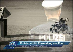 Tätlicher Angriff im Dienst: Polizist erhält Zuwendung aus Fond