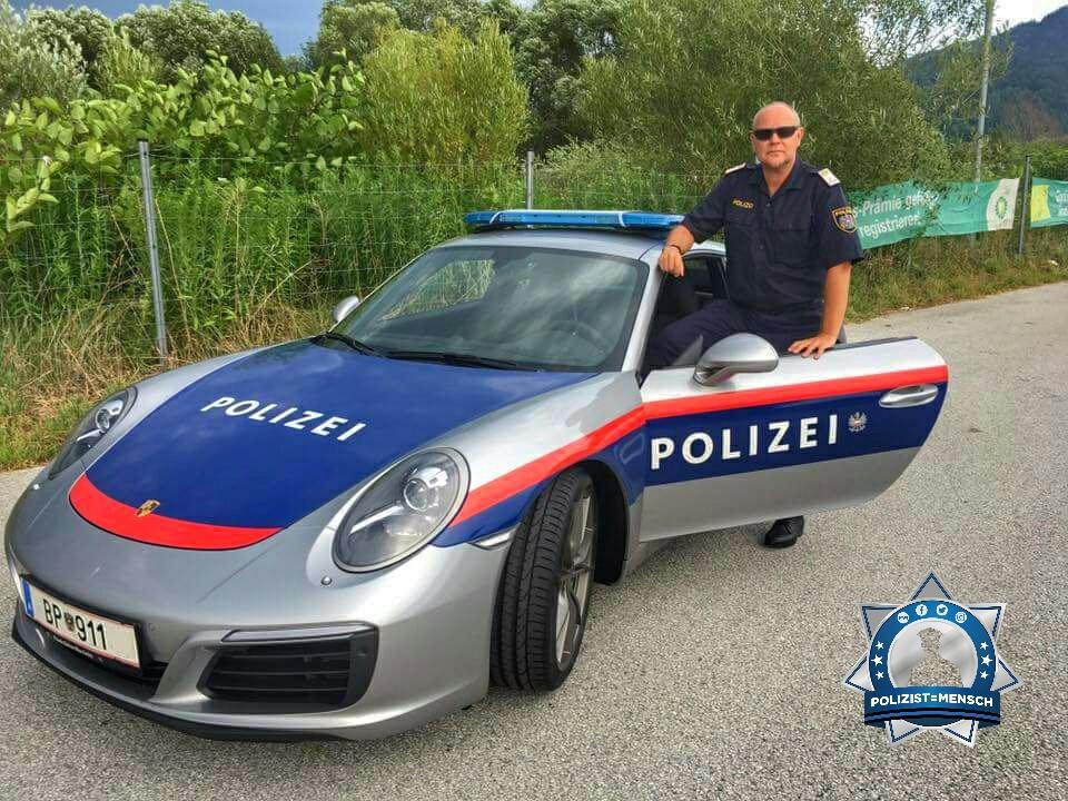 Heißer Schlitten: Polizeiporsche in Kärnten unterwegs