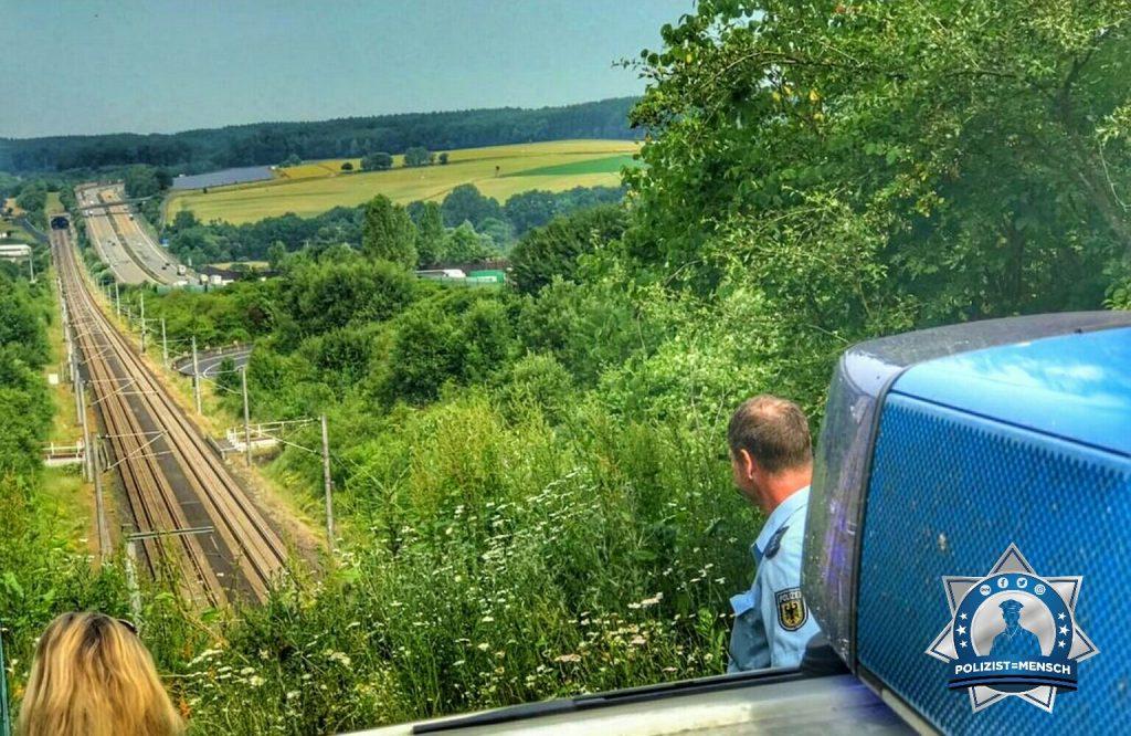 Bundespolizisten grüßen auf Streife im Westerwald