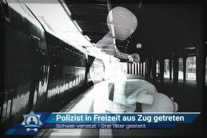 Polizist in der Freizeit aus dem Zug getreten