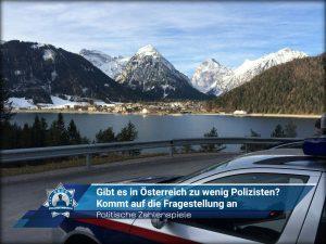 Politische Zahlenspiele: Gibt es in Österreich zu wenig Polizisten? Kommt auf die Fragestellung an...